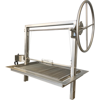 Santa Maria Argentine Drop in frame with height adjustable rotisserie.