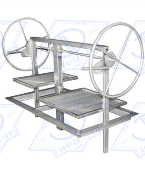 48 inch Stainless Santa Maria Argentine Drop in frame insert for outdoor masonry kitchen island.