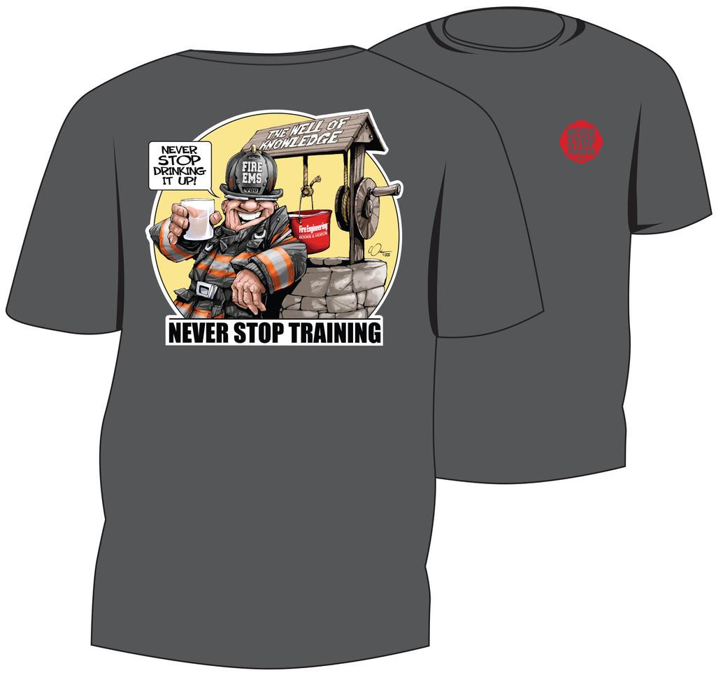 Never Stop Training - Paul Combs Custom Tee