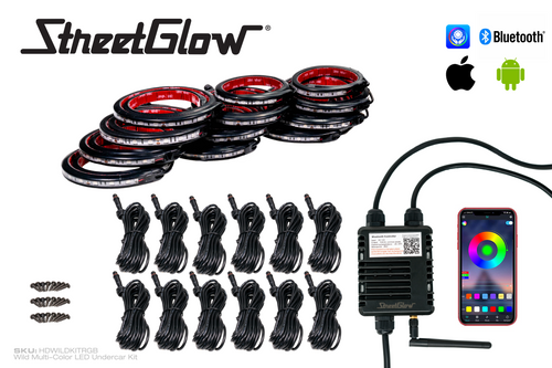 Wild Multi-Color LED Undercar Kit