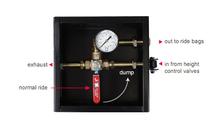Air Dump Boxes with Pressure Gauge