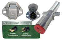 Vertical Dual Pole Plugs & Sockets- Tarp Systems Connectors Dual Pole - Vertical Buffalo Plugs & Bull Nose Sockets