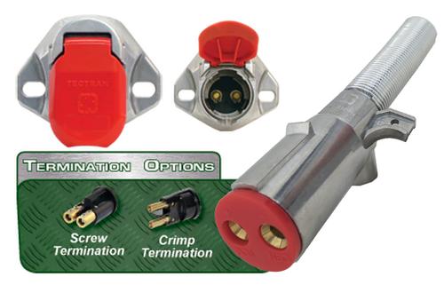 """Dual Pole Plugs & Sockets - Tailgate Connectors Dual Pole Buffalo Plug & Bull Nose Sockets"""