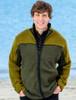 Men's Fleece Lined Wool Jacket  - Khaki