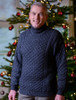 Mens Wool Turtleneck Sweater - Charcoal (CatImage_/christmas-for-him) (CatImage_/aran-christmas-store)