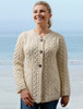 Women's Merino Wool A-Line Fit Cardigan - Natural White
