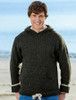 Men's Wool Hoodie with Pouch Pocket - Forest Green