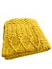 Merino Aran Patchwork Throw - Sunflower Yellow