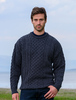 Men's Merino Aran Sweater - Derby