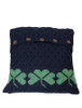 Shamrock Cushion Cover - Navy With Kiwi