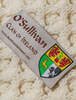 O'Sullivan Clan Aran Throw - Label