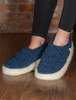 Merino Wool Slipper - Dark Blue