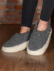 Merino Wool Slipper - Graphite