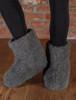 Merino Wool Booties - Graphite