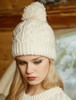 Aran Fleece Lined Rib Cap with Bobble