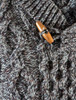 Aran Shawl Neck Fisherman Sweater - Detail