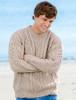 Merino Wool Diamond Sweater Mens - Parsnip
