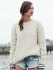 Heavyweight Merino Wool Aran Sweater - Natural White