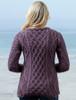Lambay Aran Sweater for Women - Warm Lavender