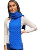 Merino Honeycomb Scarf - Royal Blue