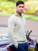 Wool Cashmere Aran Troyer Sweater