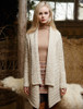 Waterfall Cable Cardigan - Natural White (CatImage_/christmas-for-him) (CatImage_/aran-christmas-store)