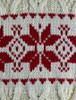 Pattern Detail from Winter Fair Isle Zip-Neck Aran Sweater