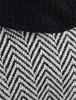 Pattern of Shawl Collar Herringbone Poncho with Buckle Detail
