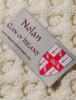 Nolan Clan Aran Throw - Label