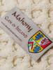 Mahony Clan Aran Throw - Label