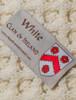 White Clan Aran Throw - Label