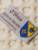 O'Shea Clan Aran Throw - Label