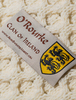 O'Rourke Clan Aran Throw - Label