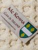 Mc Kenna Clan Aran Throw - Label