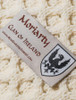 Moriarty Clan Aran Throw - Label