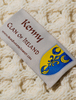 Kenny Clan Aran Throw - Label