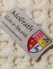 Mc Grath Clan Aran Throw - Label