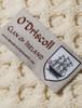 O'Driscoll Clan Aran Throw - Label