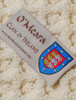 O'Meara Clan Aran Throw - Label