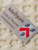 Mulligan Clan Aran Throw - Label