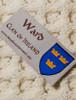 Ward Clan Aran Throw - Label