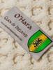 O'Hara Clan Aran Throw - Label