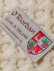 O'Riordan Clan Aran Throw - Label