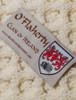 O'Flaherty Clan Aran Throw - Label