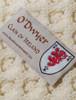 O'Dwyer Clan Aran Throw - Label
