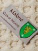 Malone Clan Aran Throw - Label