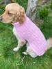 Aran Dog Coat - Pink