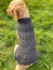 Aran Dog Coat - Charcoal