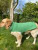 Aran Dog Coat - Green Marl
