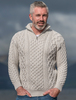Heavyweight Merino Wool Aran Troyer - Silver Marl